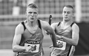 Leichtathletik Staffellauf