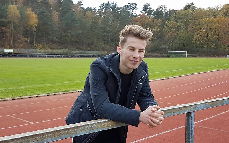 Praktikant Lars Burbach