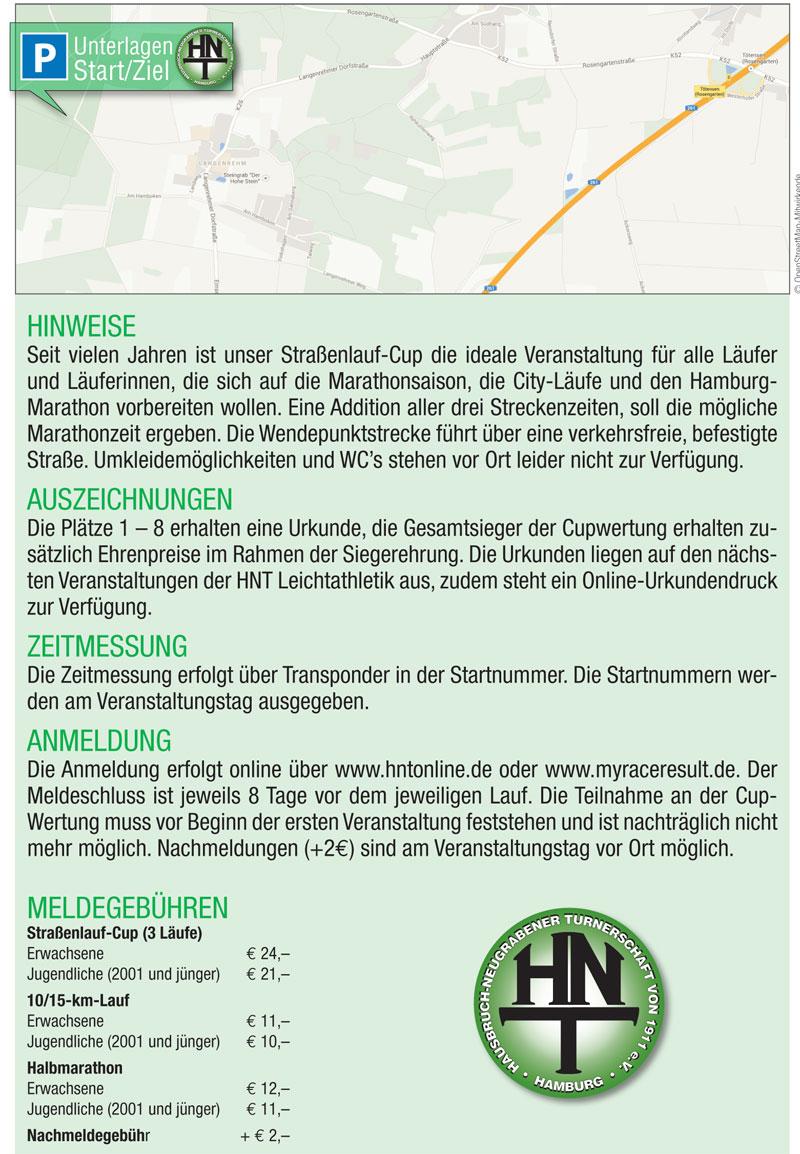 Ausschreibung Straßenlauf-Cup 2020