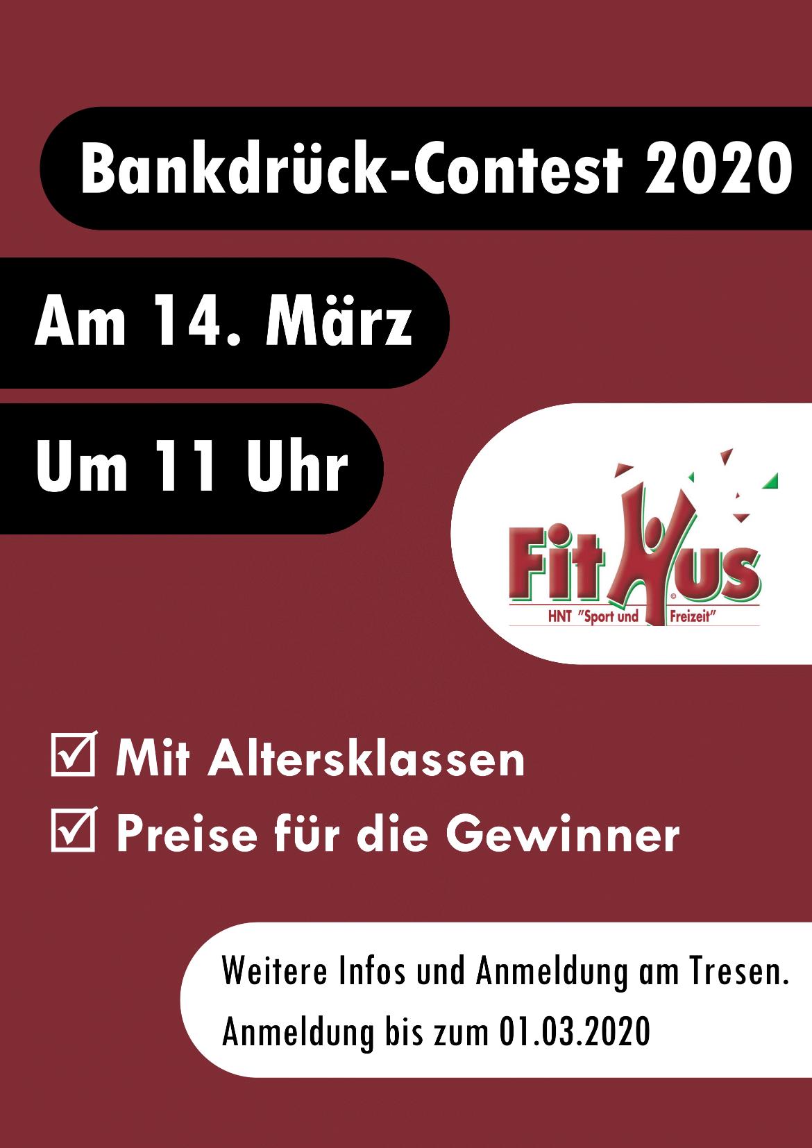 Bankdrücken am 14.03.2020